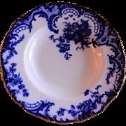 Cauldon Floral Motif Flow Blue Serving Bowl, Pattern H5974