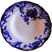 Cauldon Floral Motif Flow Blue Serving Bowl, Pattern H5974