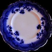 "Johnson Bros Flow Blue ""St Louis"" Pattern Dinner Plate"