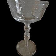 "Libbey/Rock Sharpe ""Salon"" Pattern Clear Cut Champagne/Sherbets - Set of 6"