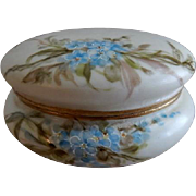 Bawo & Dotter Elite Limoges Hand Painted Powder/Trinket Box w/Forget-Me-Not Floral Motif