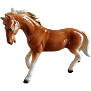 Vintage 1960's Porcelain Palomino Horse Figurine