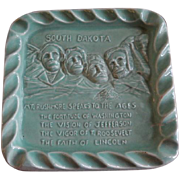 "Red Wing Pottery Embossed ""Mount Rushmore"" Ash Tray"