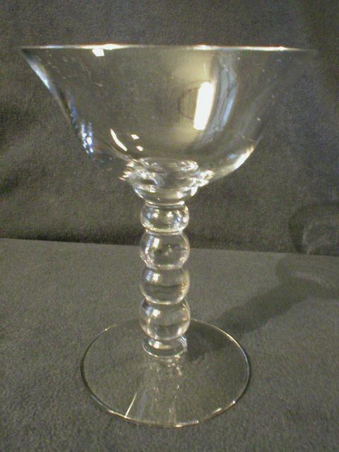 "Set of 6 Imperial ""Candlewick"" Champagne/Tall Sherbets with 4-Bead Stem"