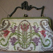 Vintage Deco Design Beaded Evening Purse
