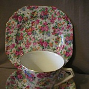 "Lord Nelson Chintz China 3-Pc Trio ""Marina"" Pattern"
