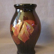 "J.B.Owens ""Utopian"" Vase w/Leaf Decoration"