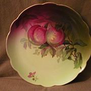"""Jaeger & Co Porcelain """"Fruit Motif""""Cabinet Plate - Signed A Koch"""