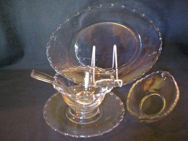 "9 Piece Grouping of Fostoria ""Century"" Pattern Glassware Items"