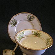 Nippon 3-Piece Mayonnaise Set with Yellow Floral Motif