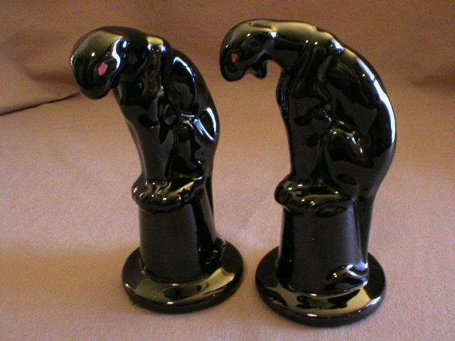 "Pair of Royal Haeger ""Panther on Pedestal"" Figurals"