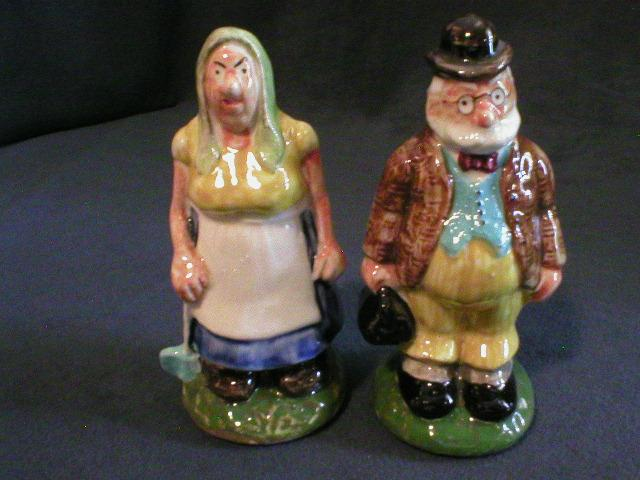 "Paul Webb ""Ma & Old Doc"" Blue Ridge Mt. Boys Salt & Pepper Set"