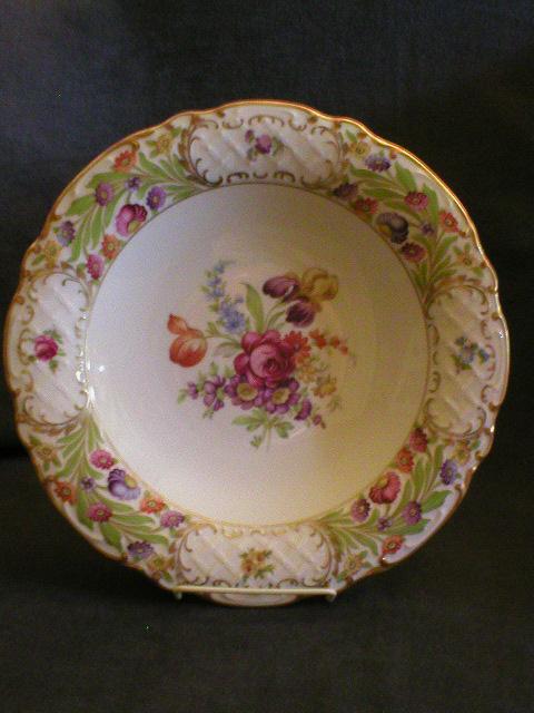 """Schumann Bavaria """"Empress Dresden Flowers"""" Round Relish Bowl"""