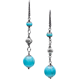 Nacozari and Sleeping Beauty Turquoise Sterling Silver Earrings