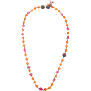 Rare Hammered Mandarin Garnet Sapphire Sterling Silver Necklace – One Of A Kind