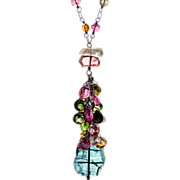 Tourmaline Sterling Silver Necklace