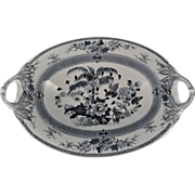 """Wedgwood """"Palm"""" Transferware Footed Colander Compote 1871"""