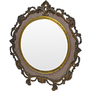 Victorian National Bronze & Iron Works Cast Brass Mirror circa 1900