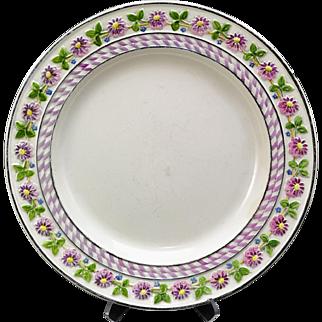 Antique Wedgwood Daisy Border Creamware Plate 19th Century