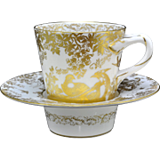 Royal Crown Derby Gold Aves Trembleuse Cup and Saucer(s)