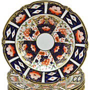 12 Royal Crown Derby Traditional Imari 9571 Rimmed Soup Bowls Plates 1925