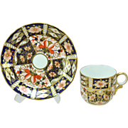 5 Royal Crown Derby Traditional Imari 2451 Coffee Cups and Saucers