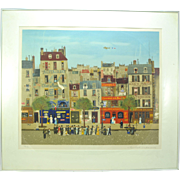 Michel Delacroix Original Color Serigraph S/N Au Bonheur du Jour
