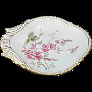 Pair of Antique Royal Crown Derby Floral Shrimp Dishes 1886