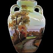 Noritake Hand Painted Landscape Design Vase - Red Tag Sale Item
