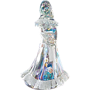 Fenton Clear Glass an Frosted Maiden Figurine