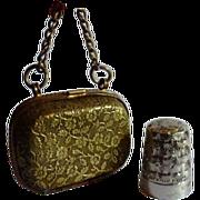 Needlework Silver Thimble Chatelaine Antique