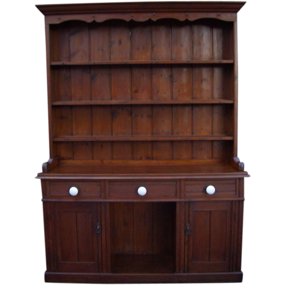 Antique furniture victorian pine dresser from for Victorian furniture