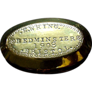 Brass Tobacco Snuff Miners Twist Box Bedminster Bristol Antique