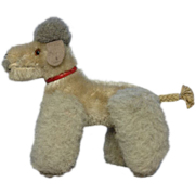 Steiff Vintage Toy Dog Poodle Plush Mohair