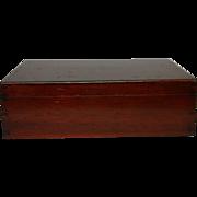 Vintage Mahogany Box.