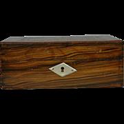 Tunbridge Sewing Needlework Box Antique Chintz Primitive Antique.