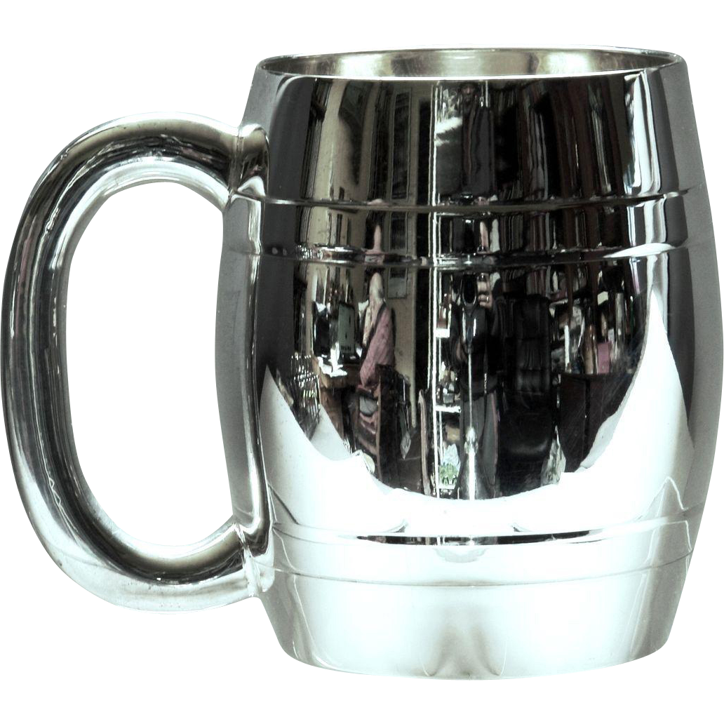 .    E.P.N.S.  Electroplated Plated Nickle Silver Sterling Tankard Christening.