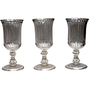 Glass Press Moulded Celery Vases Antique