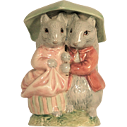 Beatrix Potter Royal Albert England 1986 Goody and Timmy Tiptoes F.Warne