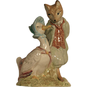Beatrix Potter Royal Albert England 1989 Jemima Puddleduck and Foxy Whiskered Gentleman  F.Warne