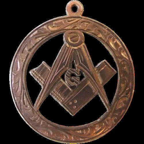 Early Vintage Gold Masonic Pendant
