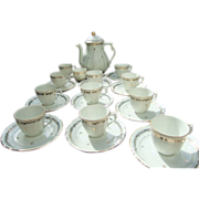 Vintage Limoges Tea & Coffee Set Porcelain Gilding
