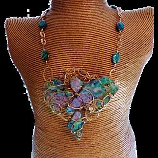 14 Karat Australian Abalone One Of A Kind Necklace