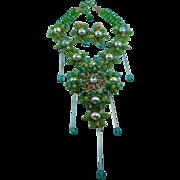 Signed Stanley Hagler Spectacular Crystal Splendor Statement Necklace Set