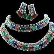Semi Precious Stone Necklace Bracelet Earring Set