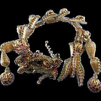 SALE PENDING: Designer Signed Kenneth Morrison Statement Dragon Necklace.