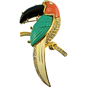 KJL Ex Large Toucan Pin/Brooch Book Piece