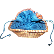 Miniature Drawstring Sewing Basket