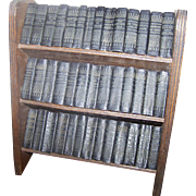 Miniature William Shakespeare 40 Volumes Books Library With Bookcase