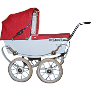 Rare HTF French Miniature Pram/Carriage/Buggy Made in France by RED